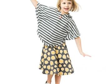 Birch Wood Fabric ~ Wood Print Fabric ~ Modern Girls Skirt ~ Extra Long Skirt ~ Below Knee Skirt ~ Modest Girls Skirt ~ Girls Nature Skirt