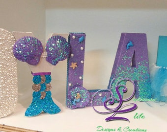 Mermaid party Mermaid birthday party Mermaid party decorations Mermaid letters Under the Sea Mermaid Under the Sea theme Mermaid decorations
