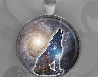 Wolf Spirit Animal Pendant & Descriptive Bookmark Set