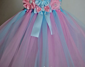 Cotton Candy Tutu Dress, Girls First Birthday Outfit, Custom Baby First Birthday Tutu Dress, Pink Birthday Dress, Girl Birthday Outfit
