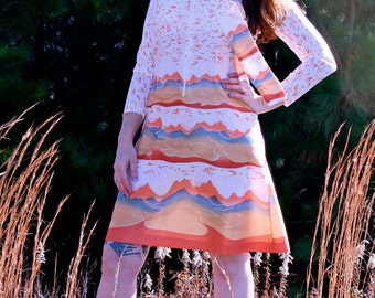 "Vintage 70s ""Sunset"" Dress"