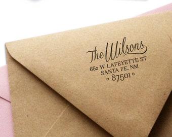 Wooden or Self-Inking Custom Return Address Stamp - Classic No. 9