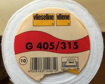 VILENE G405/315 Interlining - White, Softline, Iron-On Interfacing (sold by the METRE)