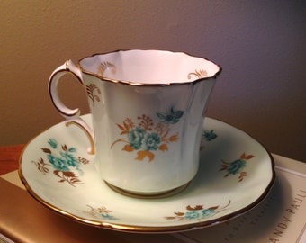 Vintage Hammersley bone china teacup set
