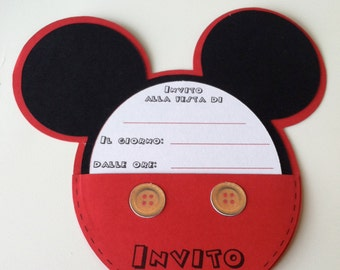 Birthday party invitation MICKEY MOUSE