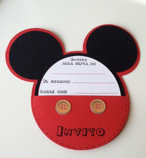 hnliche artikel wie einladung zum kindergeburtstag mickey mouse auf etsy. Black Bedroom Furniture Sets. Home Design Ideas