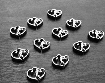 Heart in Heart Floating Charm Floating Lockets-Love Charms-Gift Idea for Women