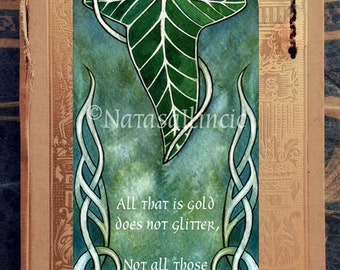 Lord of the Rings LEAF bookmark