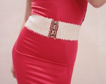 White Sequins Belt