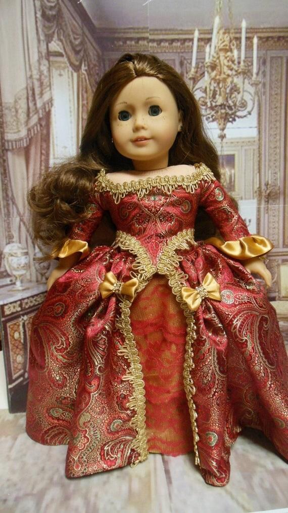 Historical American Girl Doll Clothes Scarlet