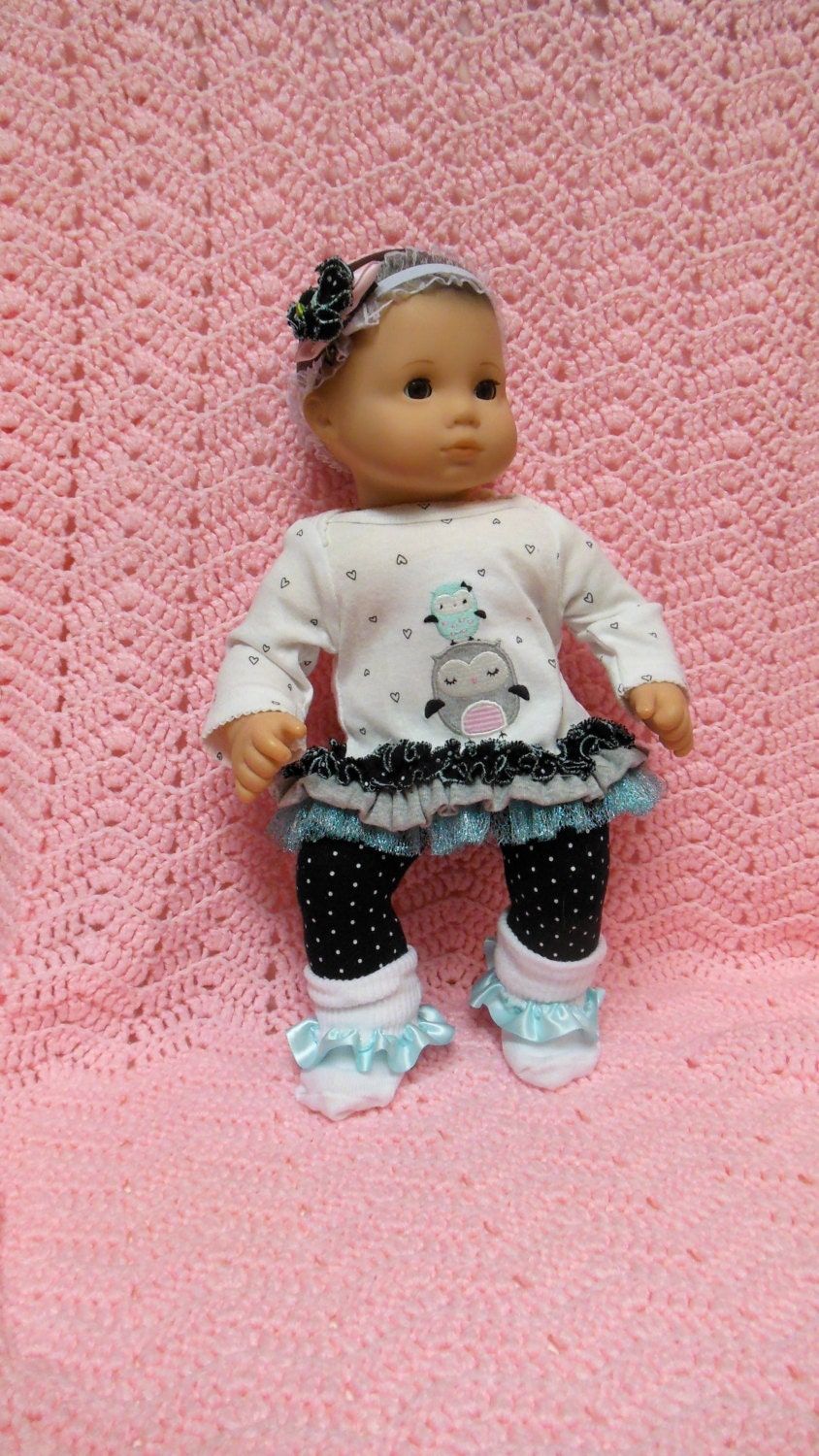 AMERICAN GIRL Bitty Baby Clothes Owl Love 15