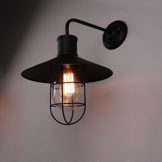 Industrial Look Wall Lamps : Industrial Style Steel Wall Lamp steel lampshade OR full set