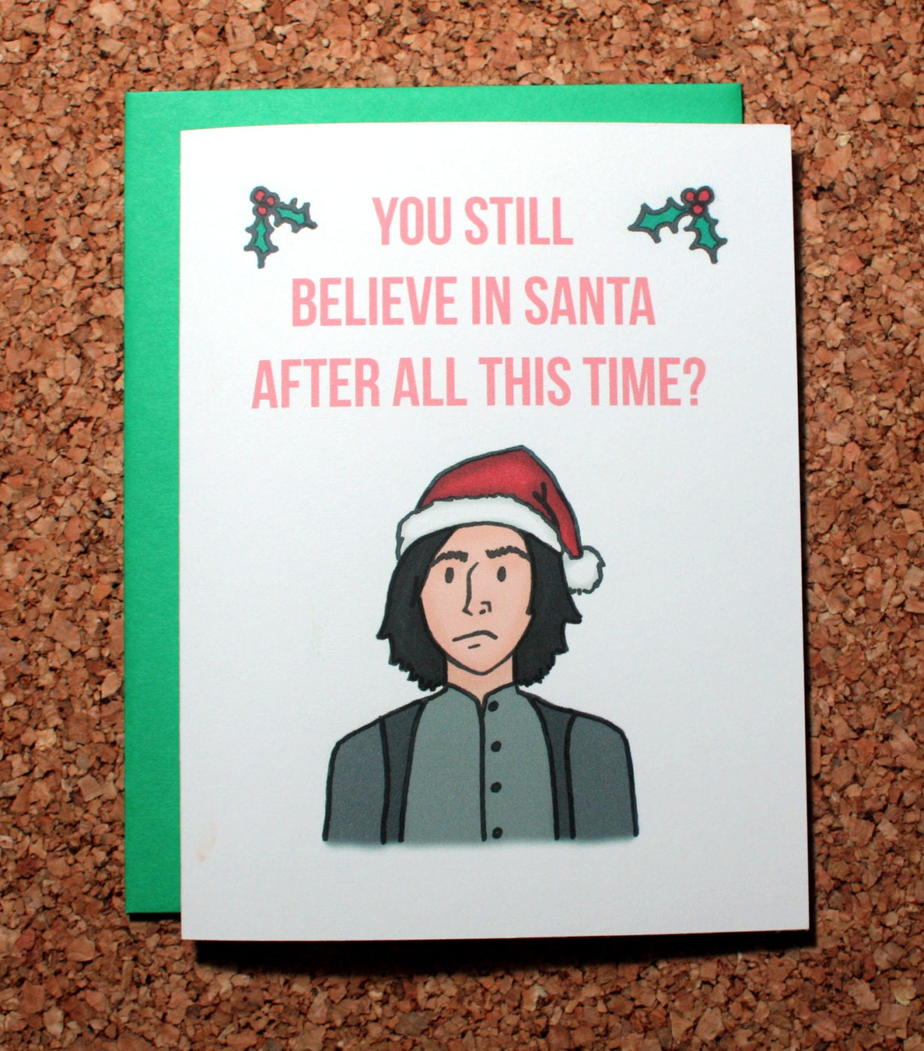 Harry Potter Christmas Card / Snape always / Christmas Santa