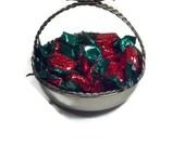 Silver Basket Candy Dish Trinket Dish Shabby Chic, Cottage Chic Wedding Candy Bar Dish
