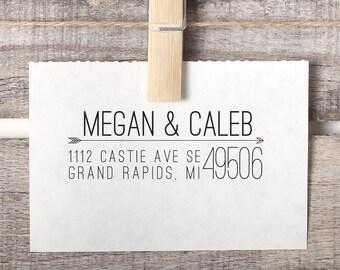 Custom Address Stamp, Return Address Stamp, Arrow Return Address Stamp, Style No. 59