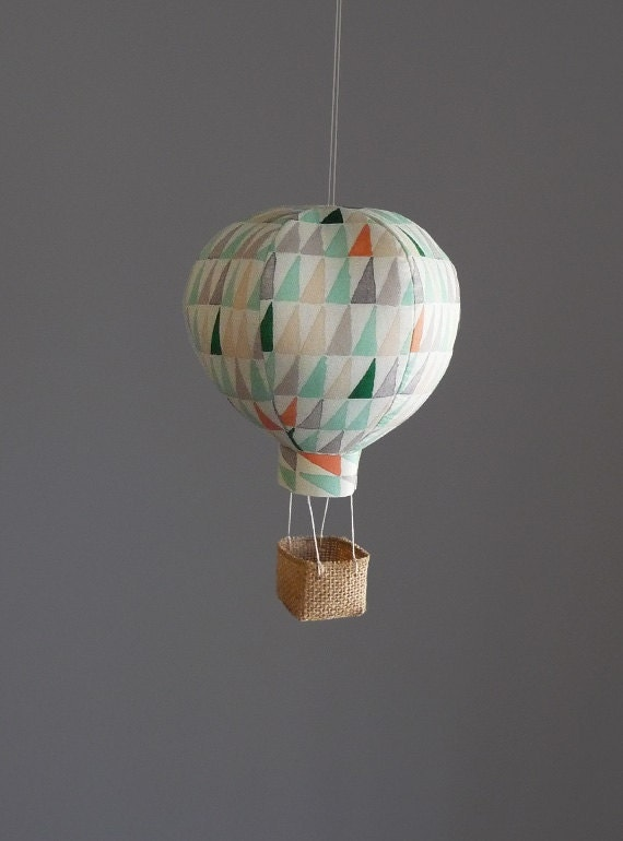 single hot air balloon decoration nursery decor baby gifts. Black Bedroom Furniture Sets. Home Design Ideas