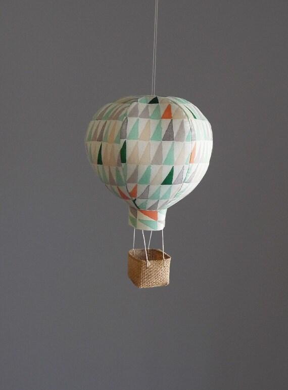 Single hot air balloon decoration nursery decor baby gifts for Air balloon decoration