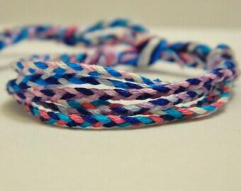 Adjustable 6 Braided Berry Colors Bracelet