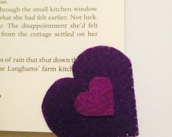Handmade Corner Heart Bookmarks - 10 Colour Variations available!!
