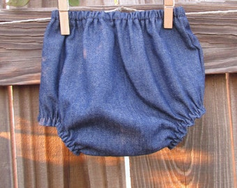 Baby Denim Diaper Cover, Boy or Girl Diaper Cover