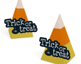12 Halloween Party Favor Boxes - Trick or Treat Boxes