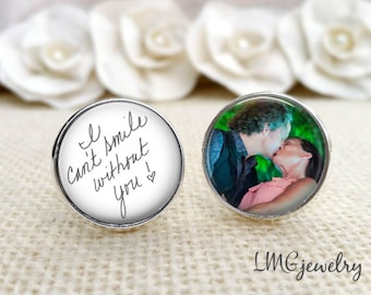 Handwritten Cufflinks for Groom, Custom Father of the Bride Cufflinks, Gift for Groom, Wedding Keepsake