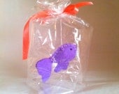 RESERVED for MissLizaAnne Purple guppy fish - The Ultimate Pet, Fish in a bag, vegan.