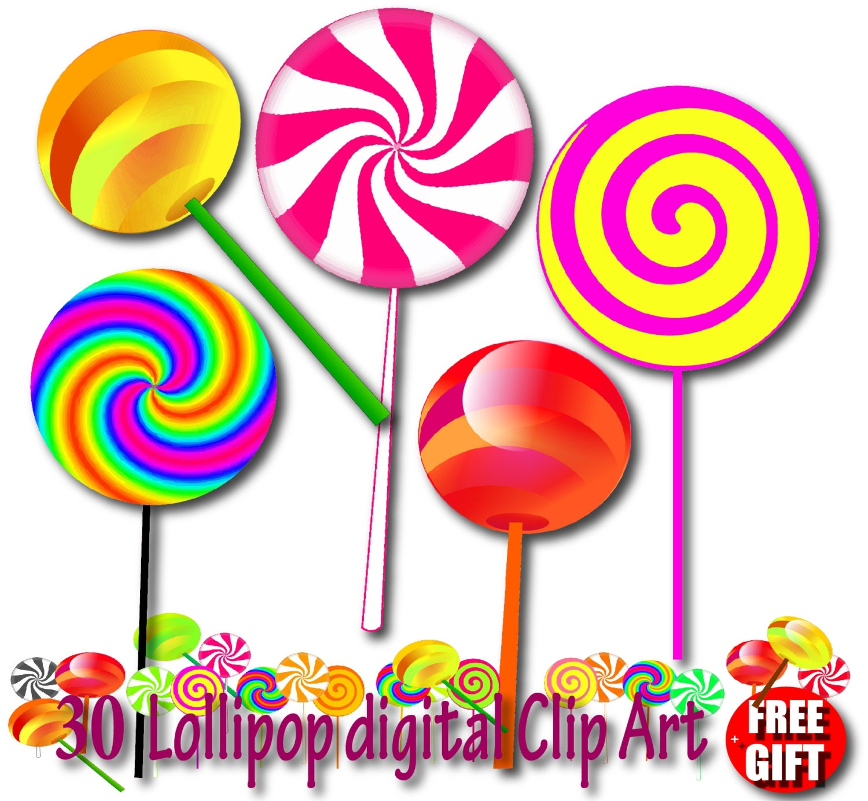 Lollipop Clipart Chocolate Lollipop Invitation Candy Lollipops