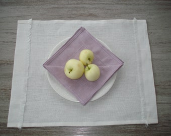 Lilac linen napkins - linen napkins set - lilac table napkins - lilac cloth napkins - lilac table linen - lilac dinner napkins