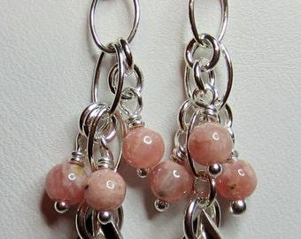 Pink Rhodochrosite earrings
