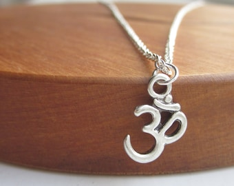Ohm necklace, silver necklace, necklace UK, silver jewellery UK