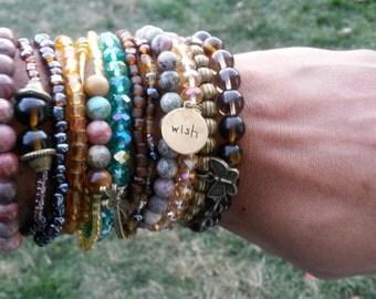 Stack Bracelet, Beaded Stack Bracelet, Balance Bracelet, Healing Bracelet, Energy Bracelet, Stackable Bracelets, Natural Stones Bracelet