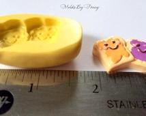 Peanut Butter and Jelly Bread Mold,Kawaii Silicone Mold,Flat Back,Crafting Mold,Polymer Clay Mold,Resin Molds,Wax Mold,Kawaii Mold