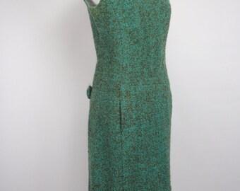1950s Wool Wiggle Shift Dress, Vintage Dress, Wiggle dress, 1950s dress, 50s dress, 1950s shift Dress, Pinup Dress, 1950s,1950s Wiggle Dress