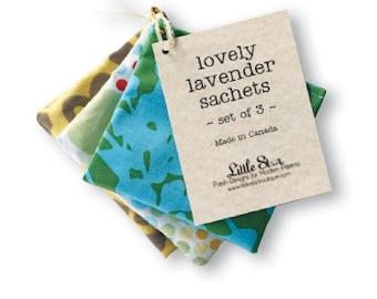 LOVELY LAVENDER SACHETS - sets of 3