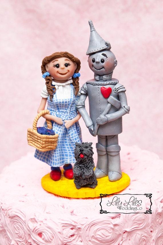 Cake topper,Tin Man,pet, bride groom character cake topper, birthday ...
