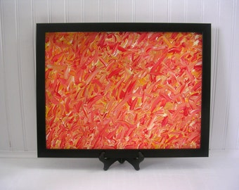 Orange Abstract Painting | Orange Acrylic Painting | Orange Home Decor | Orange  Wall Art |