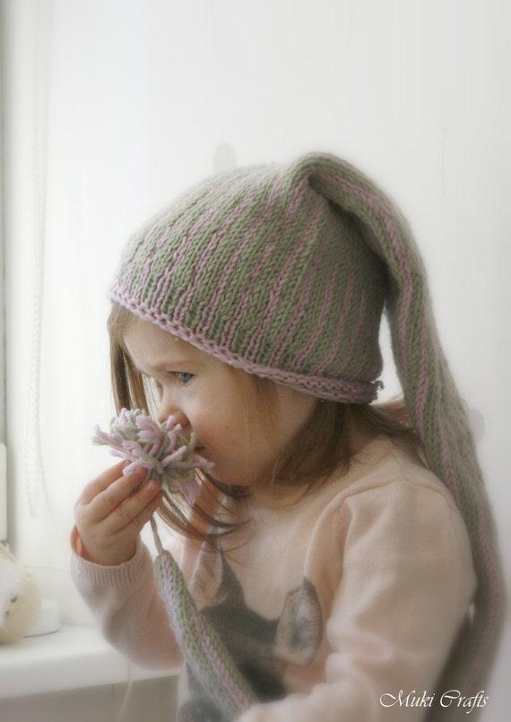 KNITTING PATTERN elf stocking hat Tontu (baby, toddler, child sizes)