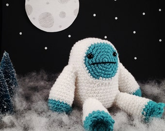 Yeti Plush/Stuffed Animal/Doll, Hand Crocheted
