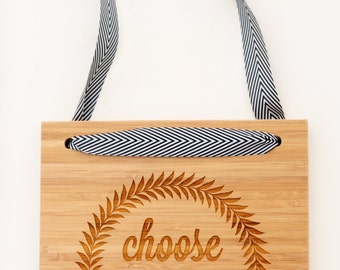 Choose Joy #2//Bamboo Sign