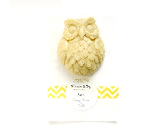 hnliche artikel wie vanille orange blossom franz sisch gelb ton owl soap handgemachte. Black Bedroom Furniture Sets. Home Design Ideas