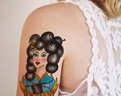 Yarn lover temporary tattoo / knitter temporary tattoo / knitter gift idea / crocheter gift idea / crocheter temporary tattoo / craft gift