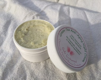 Organic Green Tea Anti-Aging Night Cream - Perfect for aging, dull and/or sensitive skin