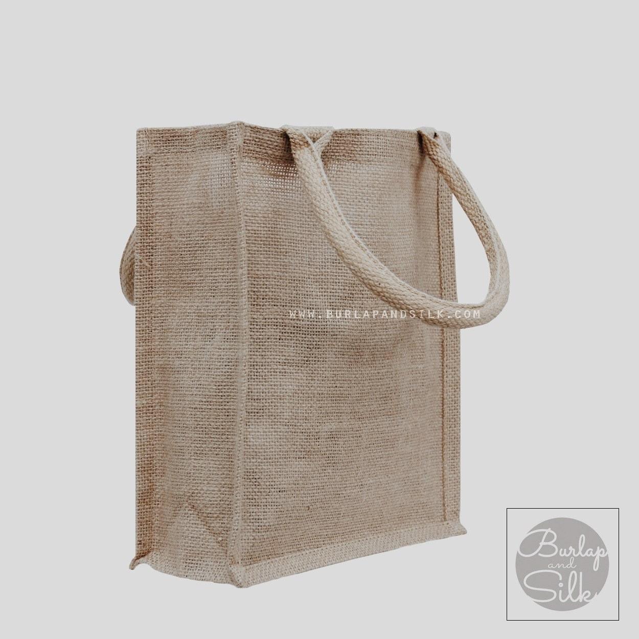 burlap jute shopping tote bags 9 x by