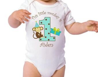 1st Birthday Boy Bodysuit, Mod Monkey 1st Birthday, 1st Birthday Boy Shirt, 1st Birthday Boy Outfit, Birthday Boy Shirt,