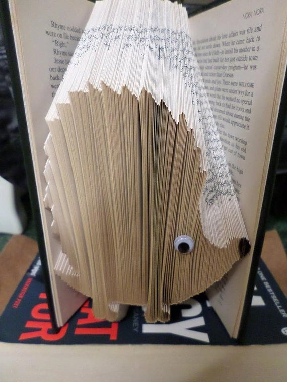 How To Make A Book Hedgehog : Book folding pattern hedgehog folds instant by craftyhana