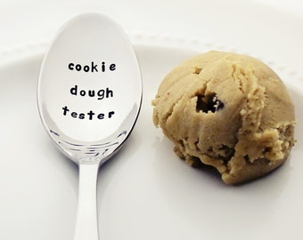 Cookie Dough Tester | Stainless Steel Stamped Spoon for Cookie Lovers | Gifts for Bakers | Mother Daughter Kitchen Goodies | Must Have!