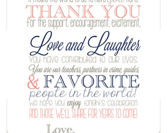 Harborside Suite, Wedding Thank You Sign, Digital PDF or FREE SHIPPING, Guest Thank You For Celebrating With Us, Reception Thank You Sign