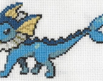 Vaporeon Pokemon Cross Stitch Pattern