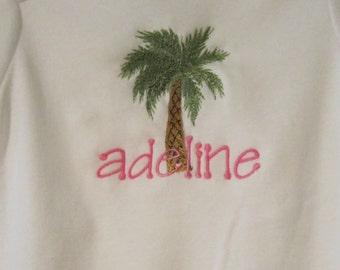 Embroidered Palm Tree!  Grandma is in Florida and all she sent was this One Piece Bodysuit
